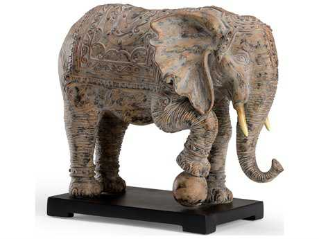 Wildwood Lamps Elephant Cast Composite In Aged Paint Black Mounting Sculpture WL300776