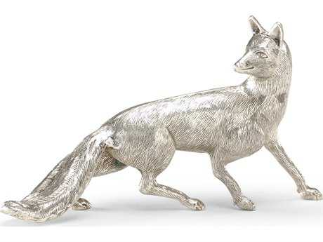 Wildwood Lamps Silver Fox Antique Silver Plate Cast Brass Sculpture WL391013