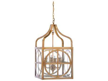 Wildwood Sherman Tarnished Brass Four-Light 17.25'' Wide Lantern Pendant Light WL67102