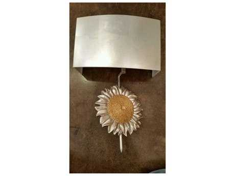 Wildwood Sunflower Antique Silver Leaf And Gold Leaf Wall Sconce WL67131