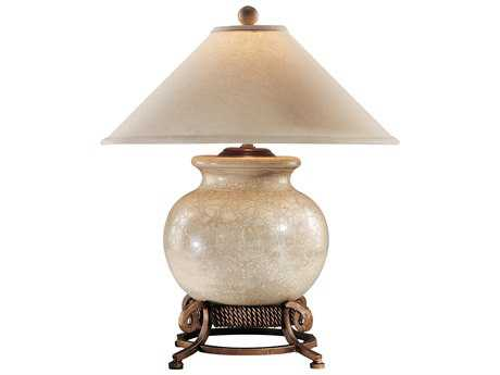 Wildwood Lamps Crackle Porcelain Wrought Iron Urn Stand Table Lamp