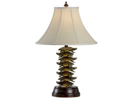 Wildwood Lamps Tiered Turtles Iron Faux Wood Buffet Lamp WL11765