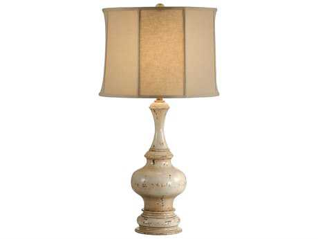 Wildwood Lamps Turned Old White Paint Urn Table Lamp WL11873