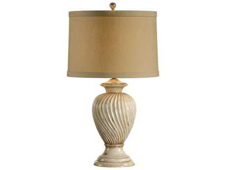 Wildwood Lamps Swirled Composite In Old Worn White Urn Table Lamp WL11875
