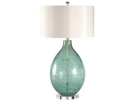 Wildwood Lamps Art Glass Acrylic Mounting Crinkle Texture Bottle Table Lamp WL12556
