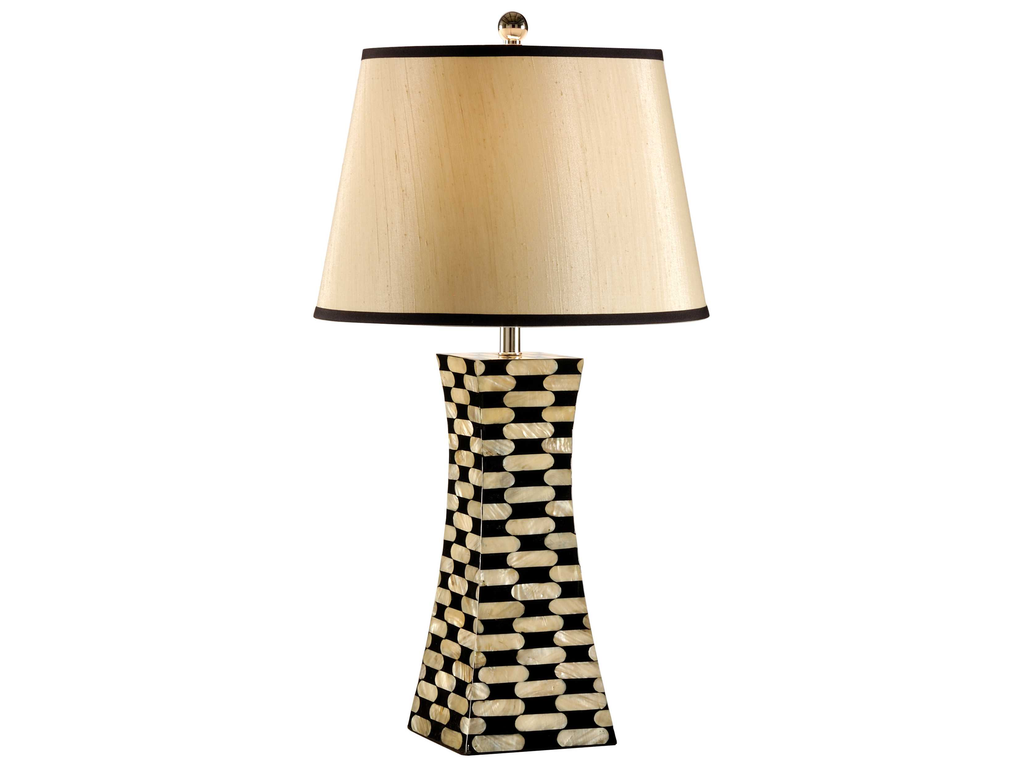Wildwood Lamps Mother Of Pearl Inlaid Lacquer Body Pearls