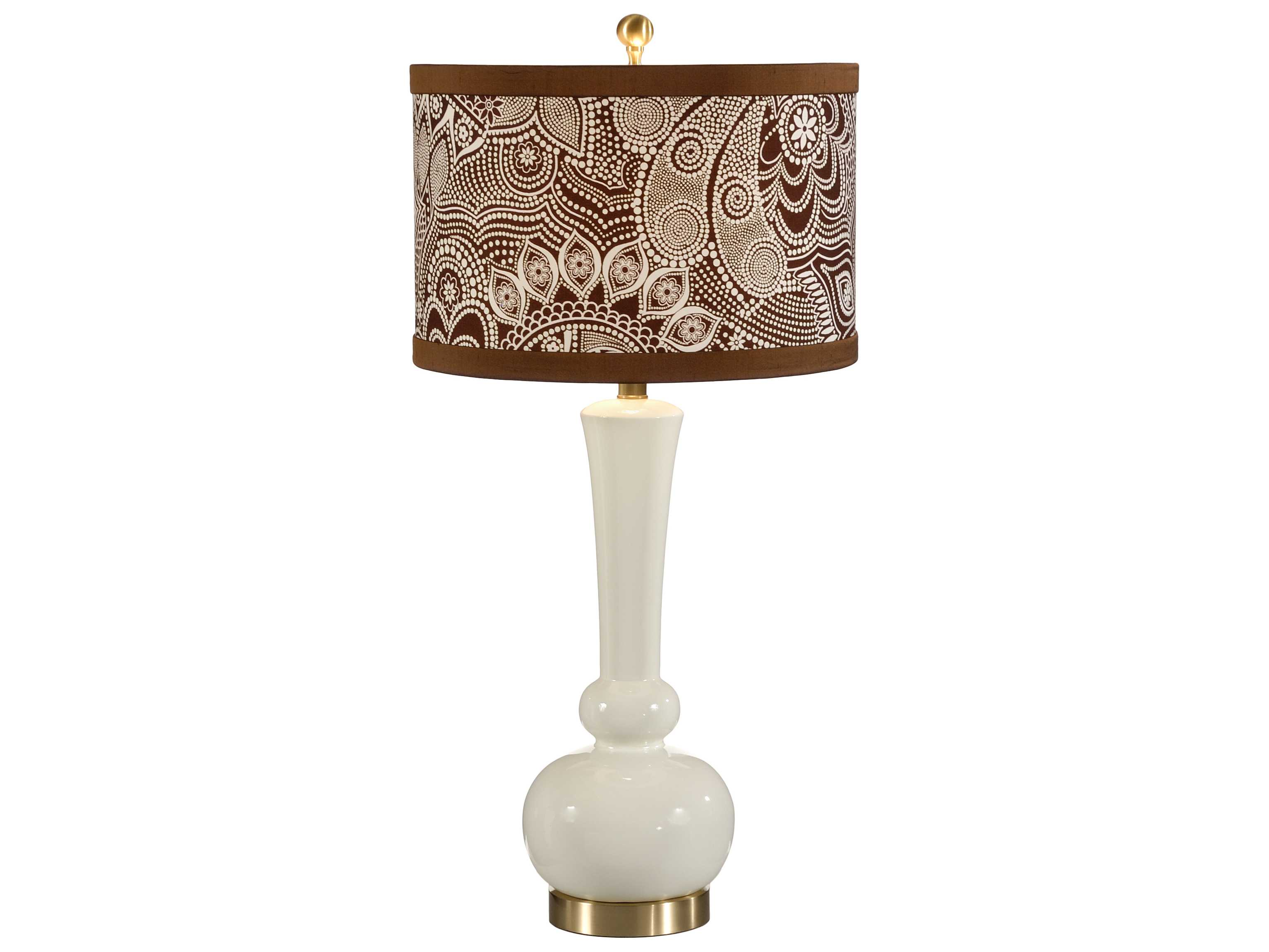 Wildwood Lamps Astrid Gardenia Designer Color Solid Brass Table Lamp