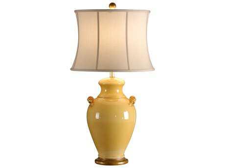 Wildwood Lamps Squash Yellow Glaze Tuscan Ceramic Giselle Table Lamp WL27535
