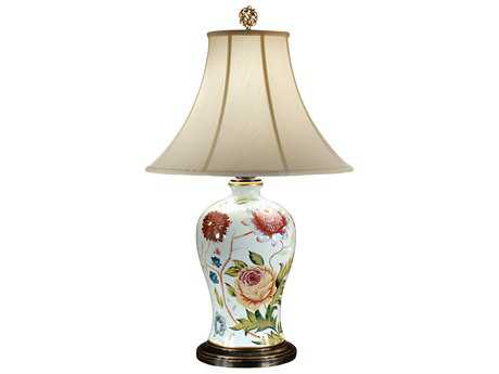 Wildwood Lamps Acrylic On Porcelain Bold Flowers Table Lamp WL46673