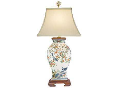 Wildwood Lamps Porcelain Pom 'N Bird Lamp WL5677