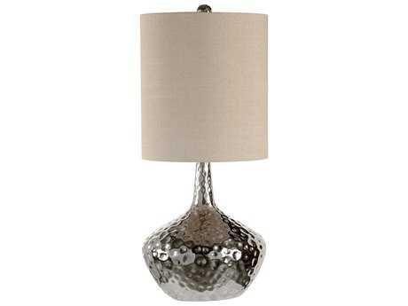 Wildwood Lamps Dimpled Iron Bottle Polished Nickel Kathleen Table Lamp
