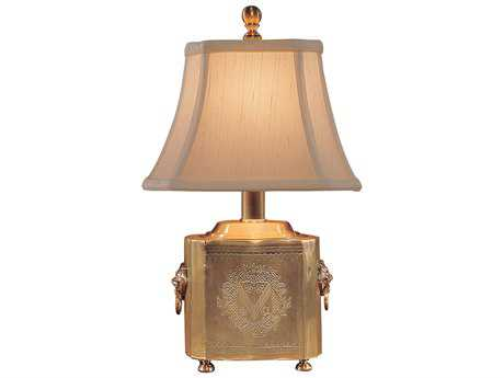 Wildwood Lamps Antique Patina Solid Brass Tea Box Table Lamp