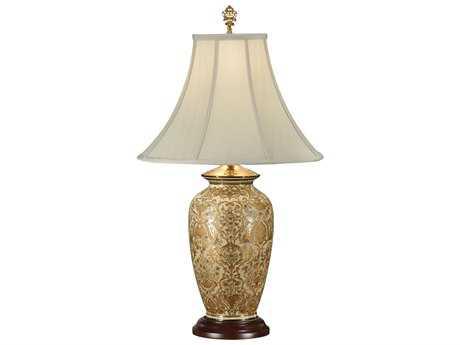 Wildwood Lamps Porcelain Gold Damask Table Lamp WL9044