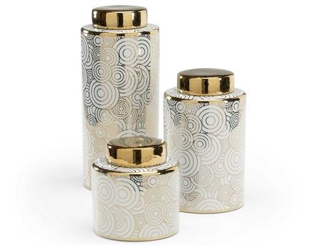 Wildwood Lamps White Glaze / Metallic Gold Urns WL301660