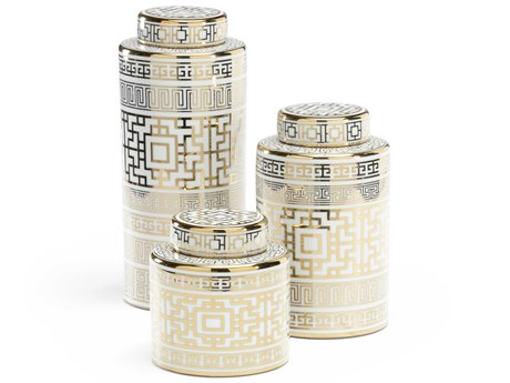 Wildwood Lamps White Glaze / Metallic Gold Urns WL301662
