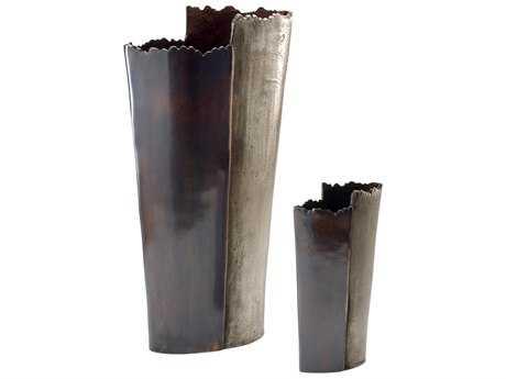 Wildwood Lamps Aluminum Copper And Bronze Jumbo Vase (Set Of Two) WL294377