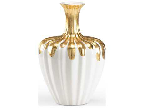 Wildwood Lamps Gold Neck Bottle Gold On Fired Ceramic Vase WL296103