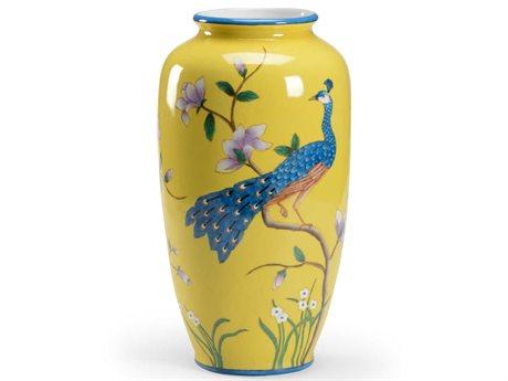 Wildwood Lamps Yellow Glaze / Hand Painted Vase WL301722