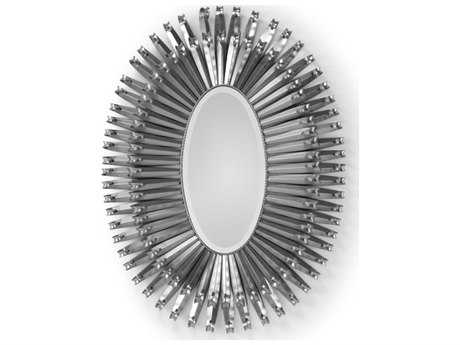 Wildwood Lamps Polished Nickel Curls Around Oval Mirror WL193046