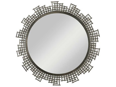 Cyan Design Blossom Graphite 50 Wide Round Wall Mirror
