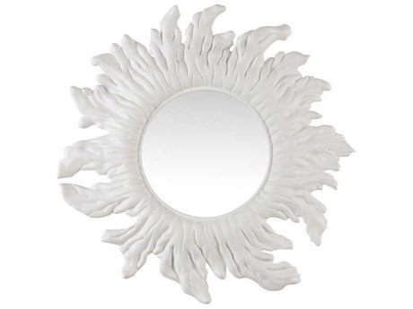 Wildwood Lamps Matte White / Clear Plain Wall Mirror WL490450
