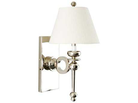 Wildwood Lamps E II Shiny Nickel Circular Arm Sconce Shiny Nickel