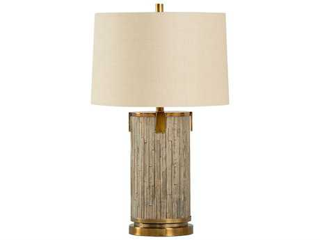 Wildwood White'S Creek Driftwood And Antique Brass Buffet Lamp WL21746