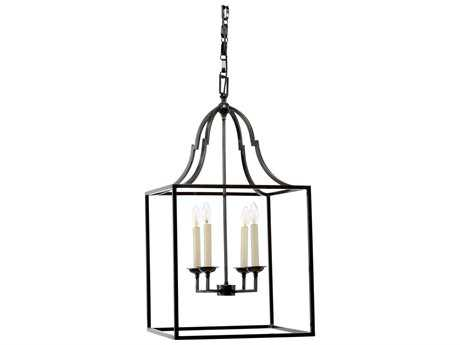 Wildwood Winston Dark Bronze Four-Light 18'' Wide Pendant Light WL67062