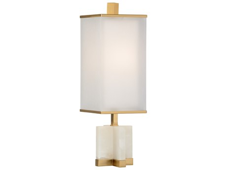 Wildwood Lamps xavier White And Antique Brass Buffet Lamp WL22475