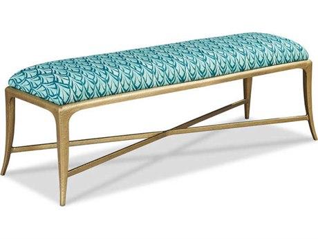Woodbridge Furniture Antique Gold Accent Bench