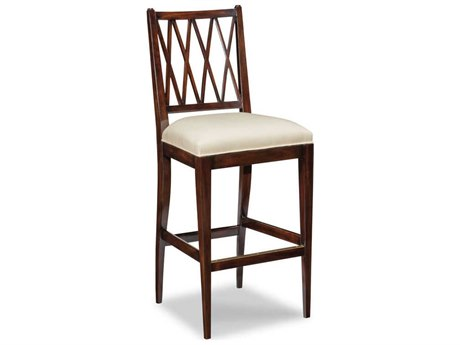 Woodbridge Furniture Addison Ebonized Mahogany Side Bar Height Stool