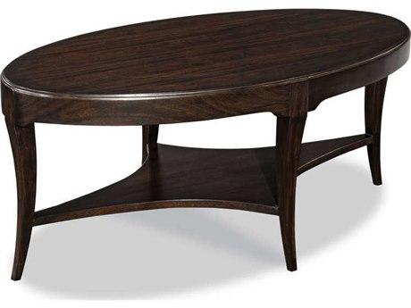 Woodbridge Furniture Addison Ebonized Mahogany 46'' Wide Oval Coffee Table