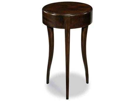 Woodbridge Furniture Addison Ebonized Mahogany 12'' Wide Round End Table