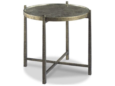 Woodbridge Furniture Angelina Eglimose / Antique Bronze 26'' Wide Round End Table