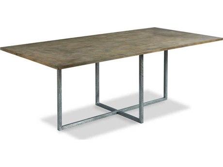 Woodbridge Furniture Annadel Napa / Hammered Steel 78'' Wide Rectangular Dining Table