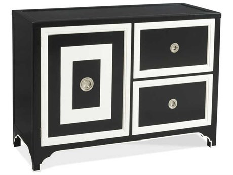 Woodbridge Furniture White With Black Paint Accent Bar Cabinet WBFTF40346