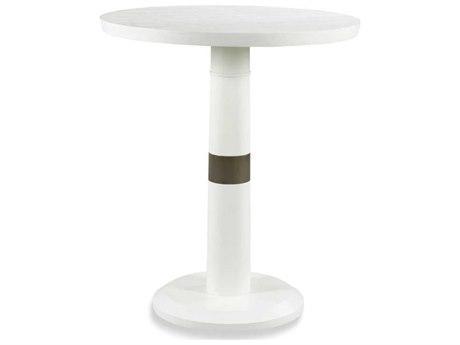 Woodbridge Furniture Alabaster / Nickel Trim 36'' Wide Round Pub Table WBF509068