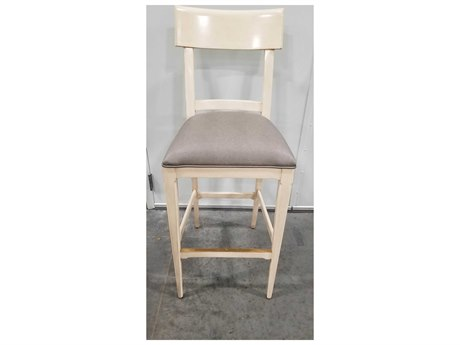 Woodbridge Furniture Wolf Gordon Flinstone Vinyl / Chalk Side Bar Height Stool