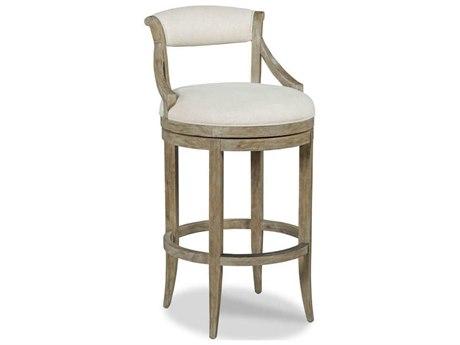 Woodbridge Furniture Vintage Side Swivel Bar Height Stool