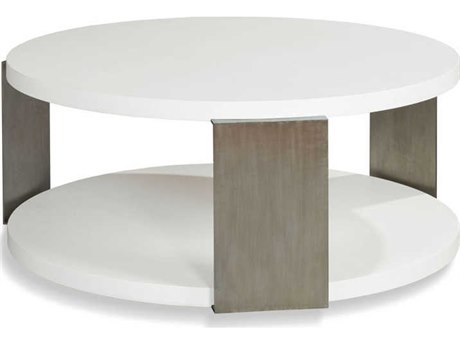 Woodbridge Furniture Alabaster 45'' Wide Round Coffee Table