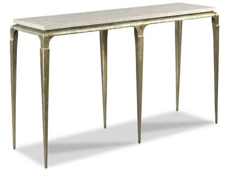 Woodbridge Furniture Spanish Marble / Antique Bronze 60'' Wide Rectangular Console Table