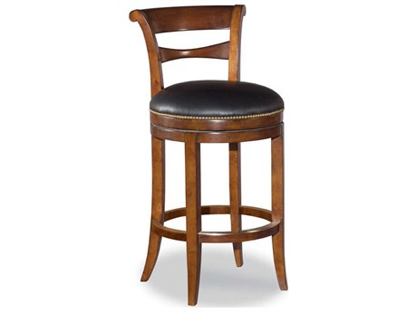 Woodbridge Furniture Waxed Cherry Side Swivel Counter Height Stool