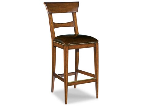 Woodbridge Furniture Empire Waxed Cherry Side Bar Height Stool WBF711202