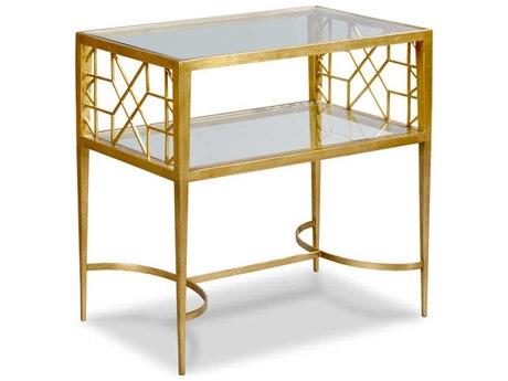 Woodbridge Furniture Gold Leaf 18'' Wide Rectangular End Table