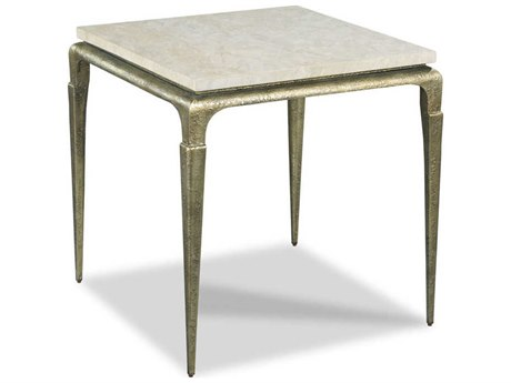 Woodbridge Furniture Spanish Marble / Antique Bronze 25'' Wide Square End Table