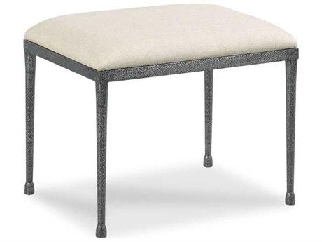 Woodbridge Furniture Helena Hammered Steel Ottoman WBF732659