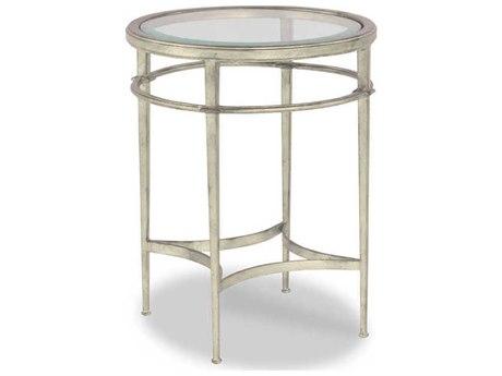 Woodbridge Furniture Madeline Silver Leaf / Antique Patina 19'' Wide Round End Table WBF115751
