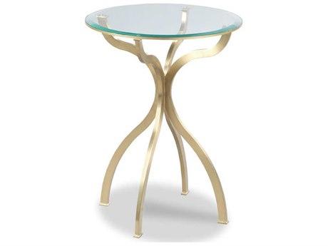 Woodbridge Furniture Milano Satin Brass 18'' Wide Round End Table