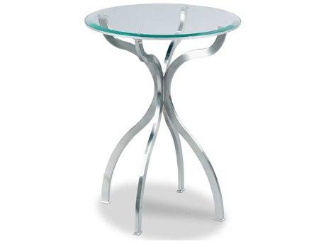 Woodbridge Furniture Milano Brushed Nickel 18'' Wide Round End Table WBF125257