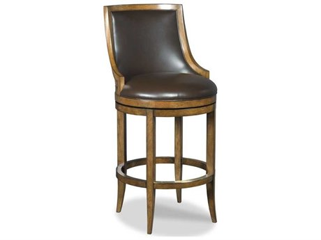 Woodbridge Furniture Redding Hazelnut Side Swivel Counter Height Stool